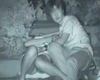 暗視カメラで青姦中のカップルを隠し撮り